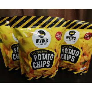 [EXTENDED RAYA PROMOTION] 3 Large ORIGINAL Irvins Salted Egg Potato Chips for RM175.00 [READY STOCK]