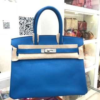 Hermes Birkin 30 7Q 希臘藍 🌈EPSOM皮 🔥超級新✌🏻hkd 8xxxx