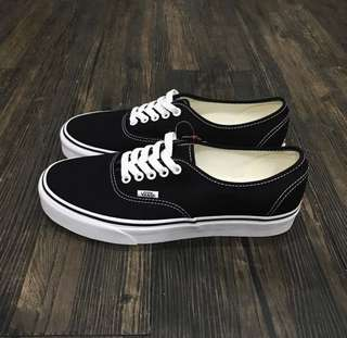 vans classic authentic black/white
