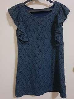 Women's Navy Blue Lace Dress/Long Top