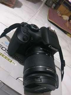 kamera canon eos 1300D fullset masih bergaransi