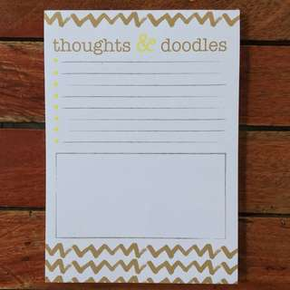 Gold Magnetic Notepad
