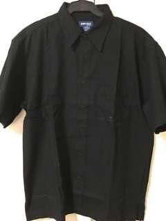 Black Short Sleeve Polo