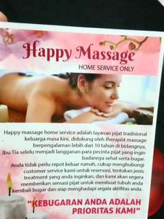 Happy Massage Home service Pijat Tradisonal