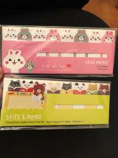 Cartoon Memo Stickers