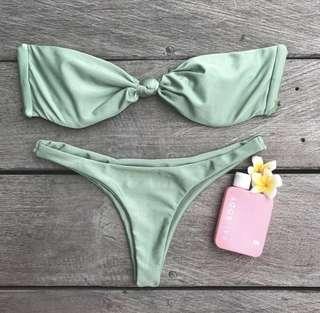 SAMISWIM khaki bandeau thong bikini 8