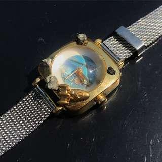 【Lost and find】 天然石 鮑貝 土星 星球 宇宙漫遊 手錶