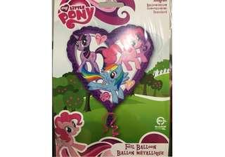 (18/6) Include Helium my little pony & Friends heart foil balloon (Happy birthday )