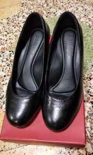 🚚 9成新 真皮高跟鞋 上班鞋 中跟鞋38碼