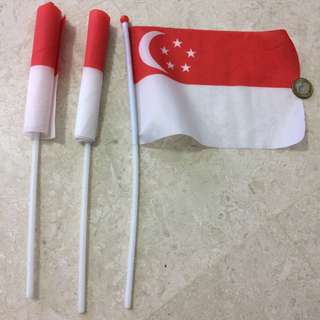 3 Singapore flags