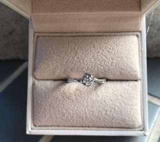 0.201ct -18k白金鑽石戒指