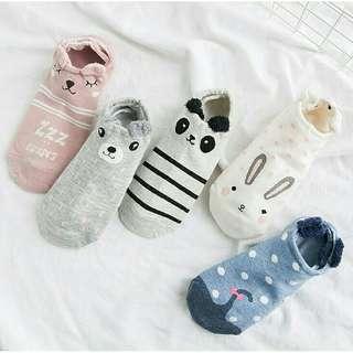 Comfy Animals Ankle Socks