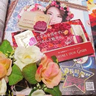 kanebo 佳麗寶 粉餅 只有日本有 coffret  d'or gram 飾底乳 玫瑰花