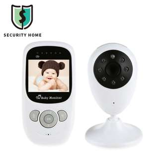 "2.4"" LCD 2.4G Wireless Digital Video Baby Monitor w/ Night Vision / Intercom - White --807"