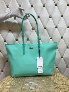 Lacoste L. 12.12 Concept  Horizontal Tote Bag,  Medium Shopping Bag  Authentic Quality