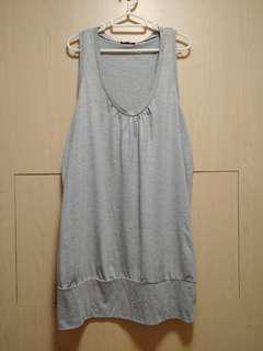 韓國灰色背心裙