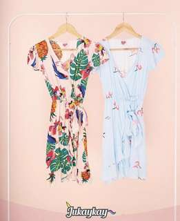 Brand New Tropical Print Dress (left on photo)