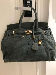 Denim Birkin bag