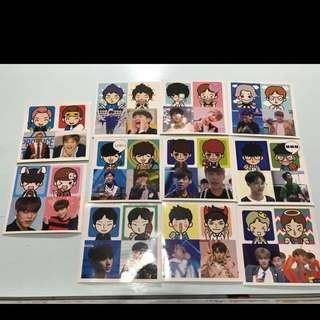 (滿$30包郵)Wanna One貼紙set