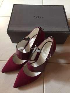 Pedro high heels maroon