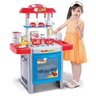 Kitchen Toy Set Deluxe Chef Pretend Play Kitchen Custom Toy Kitchen Playset