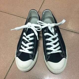 🚚 無印良品深藍23號帆布鞋