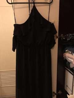 H&M Long Dress (Cold Shoulder/Halter Neck)