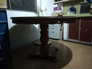 Antique Narra Round table for 6 pax