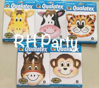 (12/6) Include Helium Jumbo Animal / Safari / Barnyard Foil Balloon ( Qualatex )