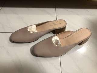 全新giodarno ladies size 37 樂富高跟拖鞋 全皮