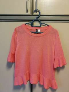 H&M Pink Jersey Top