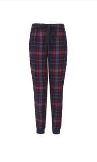 Cuffed plaid tartan Pajama pants