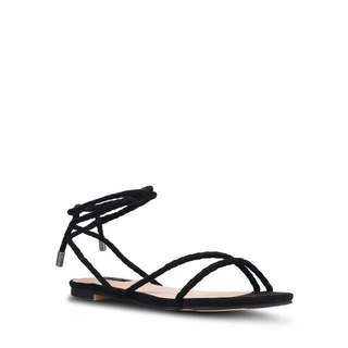 Zalora Black Flat Strappy Sandals #Fashion75