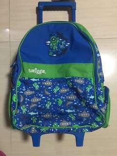 Smiggle trolley backpack light up wheels
