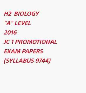 ∆ H2 BIO 2016 J1 PROMO PAPERS SOFTCOPY