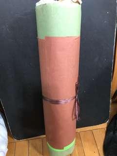 一大卷彩畫紙 big roll of colour papers