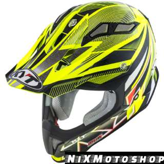 KYT Strike Eagle Stripe Yellow Fluo