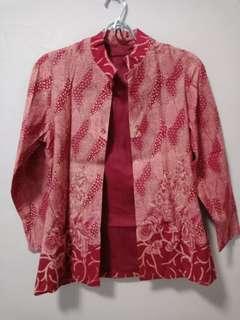 cardi batik/ cardigan batik /baju kerja batik
