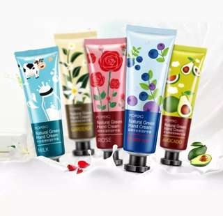 5Pcs/lot Plant Extract Fragrance Hand Cream Set Moisturizing Hydra