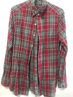 🚚 (男版S)復古風格格子襯衫✨