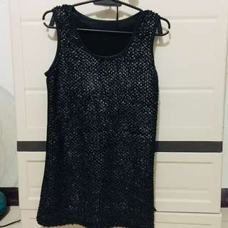 Black Dress with shiny details