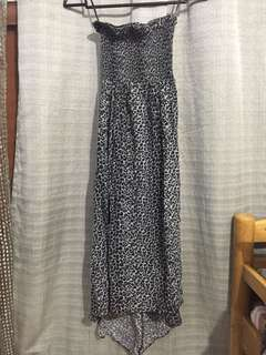 Authentic cotton on cheetah-print summer maxi dress