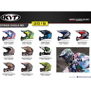 KYT Strike Eagle Motocross Helmet