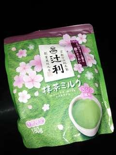 matcha milk (sakura)
