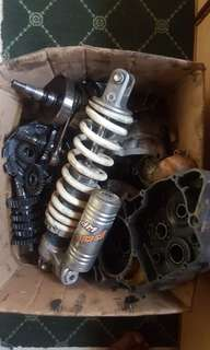 Ktm 200 rear shock top block and others