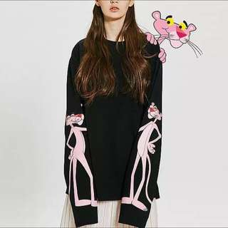 Oversized pink panther t-shirt