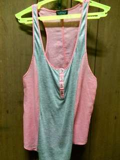 Topshop pink and gray racerback