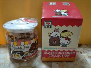 7-11 glass container collectable 7 Eleven