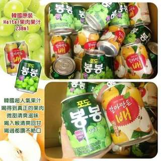 韓國原裝 Haitai果肉果汁(罐)  Korea original Haitai pulp juice (cans)