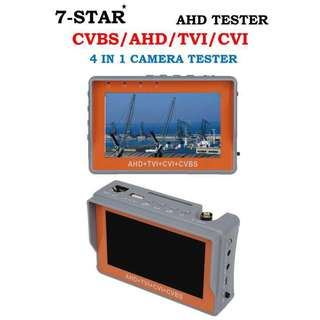 7-STAR* CCTV Portable Tester 4 in 1 (Support:AHD/TVI/CVI/CVBS/ANALOG/PTZ CCTV Camera-UTP Cable Tester-Rechargeable Battery-Build in 4.3inch Display Screen)